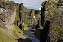 Fjaðrárgljúfur Gorge (Stephen P. Johnson) Tags: southcoast iceland places fjaðrárgljúfur river gorge canyon rock cliffs nature
