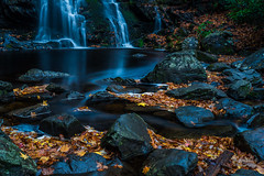 Ghosts of the Falls (Ron Harbin Photography) Tags: water waterfall flow great smoky mountain national park gsmnp tremont leaves fall colorful rocks yellow red brown spruce flats falls ghost