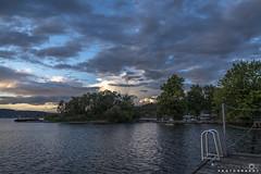 Summer Clouds (BobbyFerkovich) Tags: renton thebristolapartments gene coulon park lake washington clouds sunset sony sonya7riii trees water