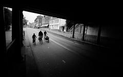 Going Home! (VanveenJF) Tags: nederland haarlem station fietsen bikes under street voigtlander heliar sony holland shadows