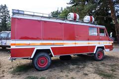 1973 Chevrolet Pronto fire truck (The Adventurous Eye) Tags: 1973 chevrolet pronto fire truck hradeckáv8