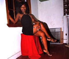 Sugar Black Dress Window Portrait Philly Studio Philadelphia Aug 1997 007a (photographer695) Tags: sugar black dress window portrait philly studio philadelphia aug 1997
