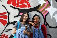 IMG_0380 (www.ilkkajukarainen.fi) Tags: graffiti sreet art helsinki ham modern museum museo muee museet happy life portrait woman girl colours värit summer kesä 2018 suomi finland finlande eu europa visit travel traveling katu taide näyttely exhibition