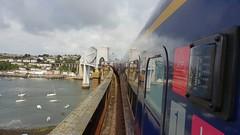 First Great Western 43144 (with 43186) 1C71 0635 Paddington - Penzance.  Tamar Bridge.  10th August 2018 (Ajax46.) Tags: firstgreatwestern 43186 43144leading tamarbridge 10thaugust2018 1c710635londonpaddingtontopenzance royalalbertbridge