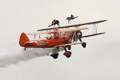 Boeing...Boeing (crusader752) Tags: boeing stearman pt17 kaydet biplanes sebog1 n741892 aerosuperbatics flying circus petite gutsy wingwalkers performing airbourne 2018