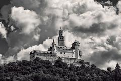 Marksburg (pni) Tags: building castle hillside forest cloud sky monochrome rhein rhine ger18 germany deutschland pekkanikrus skrubu pni