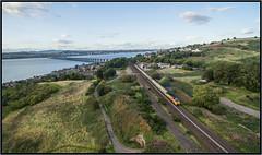 70809 Tay Bridge South (jbg06003) Tags: class70 colas cement freight taybridge scotrail scr drone