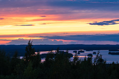 Sunset in Lakeland at the end of August (VisitLakeland) Tags: finland kuopio lakeland järvi lake maisema nature outdoor scenery sunset
