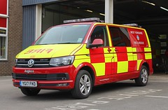 YG17 FKO (Ben Hopson) Tags: west yorkshire fire rescue service wyfrs vw volkswagen transporter angloco water unit vehicle emergency flood response river lake sea new 2017 17plate 999 bingley station yg17 fko yg17fko