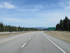 The junction of Hwy 16 and Hwy 40 is ahead (just southwest of Hinton) (jimbob_malone) Tags: 2018 highway16 alberta