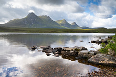 A Loyal View (Paul C Stokes) Tags: loch lochan lake hakel benloyal ben loyal loahanhakel mountain scotland tongue northcoast500 northcoast north coast 500 nc500 sony sonya7r2 a7r2 zeiss1635 zeiss 1635mm mountains range sky landscape water rock serene
