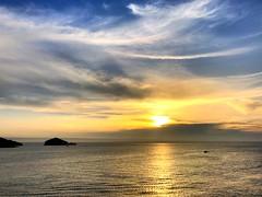 Run (David BlueFox) Tags: beautiful flickr instagram horizon summer travel sunset clouds water sea yellow blue run sun