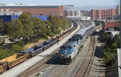 Backwards Starlight (imartin92) Tags: emeryville california amtrak passenger train coaststarlight railroad ge generalelectric p42dc p328bwh b328wh genesis locomotive