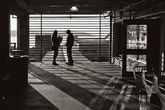 Shadowy World (vtom61) Tags: nikonn90s ilfordfp4plus seattle film pikeplacemarket washingtonstate shadows
