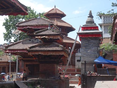 L'ensemble de temples Hanumandhoka toujours sur la même place.