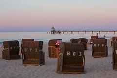 Zinnowitz beach (explored 11-09-2018) (proefdier) Tags: balticsea beach dusk evening meer ostsee outdoor sand seebrücke strand strandkorb summer sunset sea water wasser zinnowitz usedom island insel