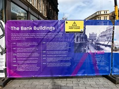 Barrier in Donegall Place, Belfast, following Bank Buildings fire (John D McDonald) Tags: belfast northernireland ni ulster geotagged bankbuildings thebankbuildings iphone appleiphone appleiphone7plus iphone7plus
