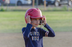 Donning the Helmet (Kevin MG) Tags: girls young youth cute pretty little sports helmet softball no adorable adolescent