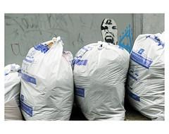 BRUXELLES POUBELLES # 2 (bruXella & bruXellus) Tags: trash poubelles müll sacblanc bussels brüssel bruxelles brussel belgique belgien belgië belgium leicax1