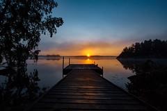 Sunrise Rengen (christianviktorsson) Tags: canon 50d 1022mm lake rengen rängen sunrise linköping östergötland sweden water dimma sjö vårdnäs