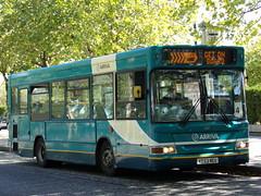 Arriva the Shires TransBus Dart SLF (TransBus Pointer) 3837 KE53 NEU (Alex S. Transport Photography) Tags: bus outdoor road vehicle arriva arrivatheshires transbusdartslf dennisdartslf plaxtonpointer2 pointer2 dart transbuspointer 3837 route4 ke53neu