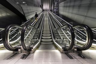 Noord/Zuidlijn Vijzelgracht escalator