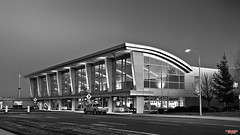 Spokane International Airport (MBates Foto) Tags: airport architecture availablelight blackandwhite building daylight dusk evening existinglight monochrome nikkorlens nikon nikond7000 nikondx outdoors urban spokane washington unitedstates 99224