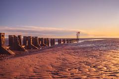 Cleethorpes Sunrise September 2018 (simononeill1971) Tags: cleethorpes beach sunrise sunstar lincolnshire landscape seascape waterscape reflection groyne horizon sky clouds sand seaweed