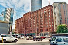 Brown Palace Hotel, Denver (StevenM_61) Tags: cityscape downtown centralbusinessdistrict hotel commercialbuildings architecture historical skyscrapers parkinglot cars denver colorado unitedstates