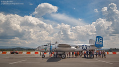 B-25 Maid in the Shade (Greg Booher) Tags: b25j mitchell bomber tricitiesairport tricityaviation clouds blountville tennessee