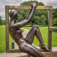 Window to the World (dayman1776) Tags: sculpture sculptor sculptures escultura statue beautifull female woman figurative nude naked sensual brookgreen gardens south carolina garden bronze square profile sony a6000 museum art