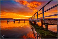 No Time for intermission.. (e0nn) Tags: luminar2018 luminar aurorahdr aurora skylum lakeillawarra lake landscape water sunset reflections sony sonyrx10mkiv steveselbyphotography steev steveselby