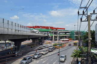 the green line trackbed over the laksi traffic circle