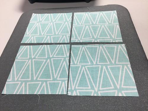 iron cut pieces flat - fabric coasters