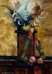 moonfigure-troycrisswell (troycrisswell) Tags: art painting watercolor figure troycrisswell