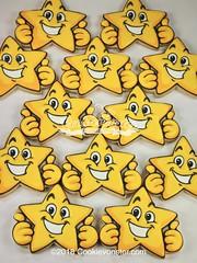 Star Thumbs Up! ©2018Cookievonster.com (Cookievonster) Tags: cookievonster customcookies cookieart decoratedcookies vancouvercookies vancouverevents vancouvergifts vancity yvr star thumbsup