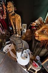 2018 Buskers in the Burg, Workshop (Dennis Valente) Tags: workinprogress 5dsr usa papermache washington mask art 2018 seahorse workshop pnw puppet ellensburg buskersintheburg puppetry giantpuppet