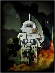 MS-06J Zaku II White Ogre (LegoKlyph) Tags: lego custom brick block build mini figure zaku oger gundam mech white bot elmer snell