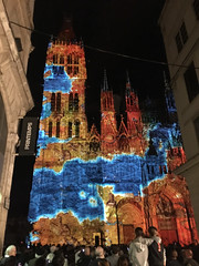 Son et lumière (schreibtnix on 'n off) Tags: reisen travelling frankreich france normandie stadt town rouen kathedrale cathedral lichtshow lightshow sonetlumière appleiphone6plus schreibtnix
