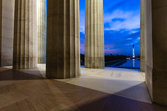 Blue Hour. Washington, D.C. (Sept. 20, 2018) (Thomas Cluderay) Tags: dc washingtondc washington washingtonian sunrise daybreak dawn bluehour lincolnmemorial washingtonmonument nps nationalmall themall thenationalmall columns photography landmark architecture neoclassical findyourpark