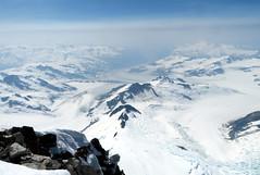 Franklin Glacier (Dru!) Tags: wadd waddingtonrange waddington franklinglacier coastmountains glaciated daisglacier icevalleyglacier smoke bc britishcolumbia canada glaciers glacier crevasse crevasses icefield