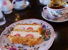 Strawberry Mille-Feuille (Long Sleeper) Tags: sweets dessert food cafe cafedeginzamiyukikan cake millefeuille fruit strawberry strawberries whippedcream tea ginza tokyo japan dmcgx1