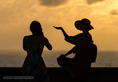 XOKA8704s2 (Phuketian.S) Tags: people silhouette sunset sea sky plam tree beauty girl woman peoples street road water andamansea indianocean nature evening babe cloud landscape