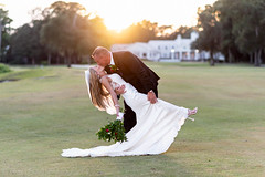 Dip in the sunset behind the clubhouse - Pawleys Plantation (Ryan Smith Photography) Tags: dip golfcourse golfcoursewedding kiss pawleysplantation sunset wedding weddingphotography myrtlebeach httpswwwryansmithphotographycom