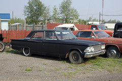 Ford Fairlane (Curtis Gregory Perry) Tags: ford fairlane 70 mile house british columbia bc canada car automobile black 1964 1963 sedan four door 4 nikon d810 classic old meteor