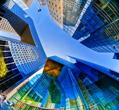 La Défense (L'Abominable Homme de Rires) Tags: ladéfense immeuble building igh skyscraper gratteciel tour iledefrance canon5d canon fisheye 815mmfisheyef4 lightroom dxo photolab