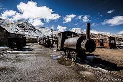 Old mining locomotives (Roberto Bendini) Tags: bolivia pulacayo uyuni south sud america amerique mine miniera città peublo mineral minerale altiplano andes silver copper lead