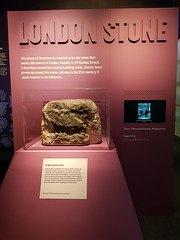 The mysterious London Stone in its temporary home at the Museum of London (Julie Ramsden) Tags: londonstone museumoflondon london