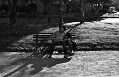 Drunk guy (The memory of tree) Tags: drunk guy man hombre shading shadow lightandshadows park socialdocumentary society publicshot public gente peoplephotography urbanshot urban urbanpeople blackandwhite blancoynegro marcosanmartin marcosanmartinfotografia city life lifestyles urbanlife streetphotography streetshot