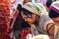 Woman Performing Puja, Holi in Vrindavan India (AdamCohn) Tags: adamcohn hindu india vrindavan charandu holi kalava mauli moui pilgrim pilgrimage pooja puja radheradhe कलावा मौली होली